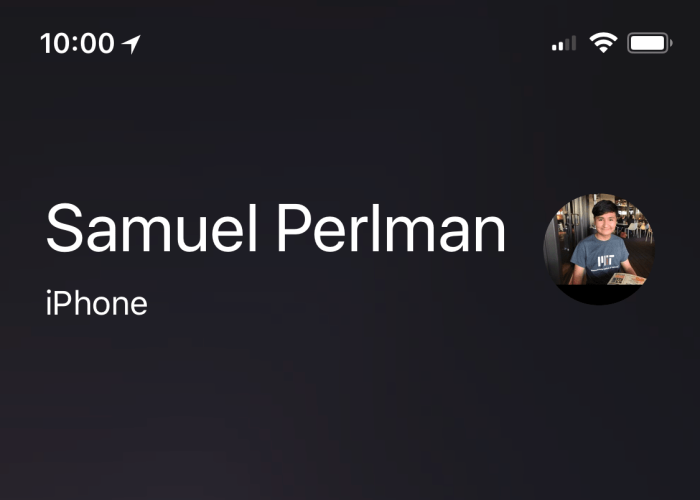 Getting Full Screen Photos for Incoming Calls on iOS